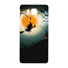 Halloween Landscape Samsung Galaxy Alpha Hardshell Back Case by ValentinaDesign
