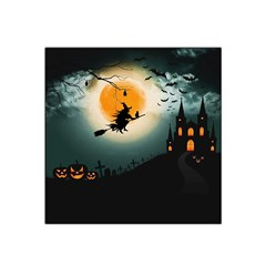 Halloween Landscape Satin Bandana Scarf by ValentinaDesign