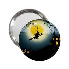 Halloween Landscape 2 25  Handbag Mirrors by ValentinaDesign
