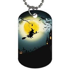 Halloween Landscape Dog Tag (one Side) by ValentinaDesign