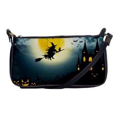 Halloween Landscape Shoulder Clutch Bags by ValentinaDesign