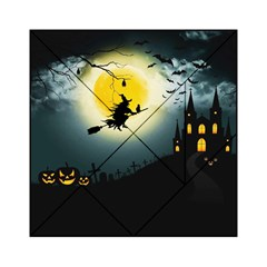 Halloween Landscape Acrylic Tangram Puzzle (6  X 6 ) by ValentinaDesign