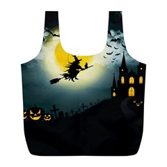 Halloween Landscape Full Print Recycle Bags (l)  by ValentinaDesign