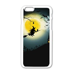 Halloween Landscape Apple Iphone 6/6s White Enamel Case by ValentinaDesign