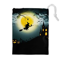 Halloween Landscape Drawstring Pouches (extra Large) by ValentinaDesign