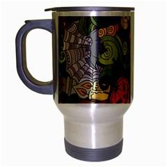 Halloween Pattern Travel Mug (silver Gray) by ValentinaDesign