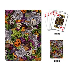 Halloween Pattern Playing Card by ValentinaDesign