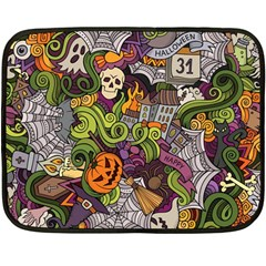 Halloween Pattern Fleece Blanket (mini) by ValentinaDesign