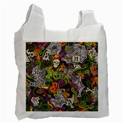 Halloween Pattern Recycle Bag (one Side) by ValentinaDesign