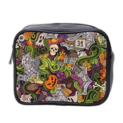 Halloween Pattern Mini Toiletries Bag 2 Side by ValentinaDesign
