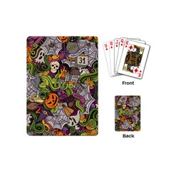 Halloween Pattern Playing Cards (mini)  by ValentinaDesign