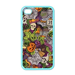 Halloween Pattern Apple Iphone 4 Case (color) by ValentinaDesign