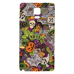 Halloween Pattern Galaxy Note 4 Back Case by ValentinaDesign
