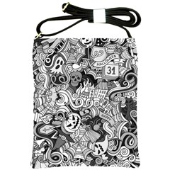Halloween Pattern Shoulder Sling Bags by ValentinaDesign