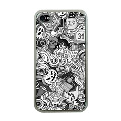 Halloween Pattern Apple Iphone 4 Case (clear) by ValentinaDesign