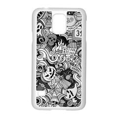 Halloween Pattern Samsung Galaxy S5 Case (white) by ValentinaDesign