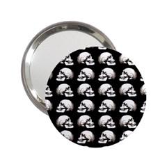 Halloween Skull Pattern 2 25  Handbag Mirrors by ValentinaDesign
