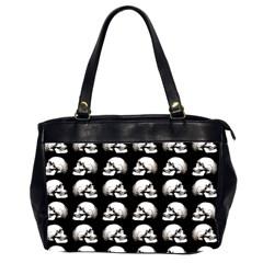 Halloween Skull Pattern Office Handbags (2 Sides)  by ValentinaDesign