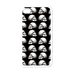 Halloween Skull Pattern Apple Iphone 4 Case (white) by ValentinaDesign
