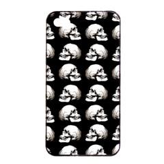 Halloween Skull Pattern Apple Iphone 4/4s Seamless Case (black) by ValentinaDesign