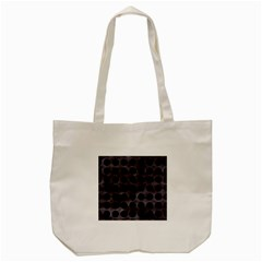 Circles1 Black Marble & Black Watercolor (r) Tote Bag (cream) by trendistuff