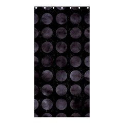 Circles1 Black Marble & Black Watercolor Shower Curtain 36  X 72  (stall)  by trendistuff