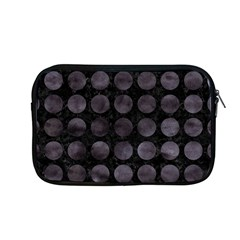 Circles1 Black Marble & Black Watercolor Apple Macbook Pro 13  Zipper Case by trendistuff