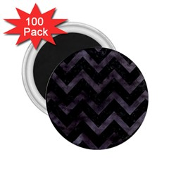 Chevron9 Black Marble & Black Watercolor 2 25  Magnets (100 Pack)  by trendistuff