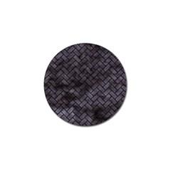 Brick2 Black Marble & Black Watercolor (r) Golf Ball Marker (10 Pack) by trendistuff