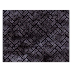 Brick2 Black Marble & Black Watercolor (r) Rectangular Jigsaw Puzzl by trendistuff