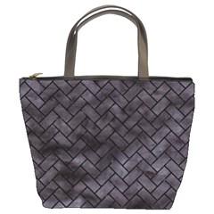 Brick2 Black Marble & Black Watercolor (r) Bucket Bags by trendistuff