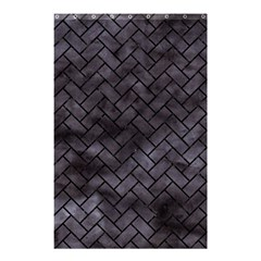 Brick2 Black Marble & Black Watercolor (r) Shower Curtain 48  X 72  (small)  by trendistuff