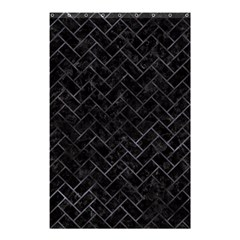 Brick2 Black Marble & Black Watercolor Shower Curtain 48  X 72  (small)  by trendistuff