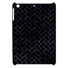 Brick2 Black Marble & Black Watercolor Apple Ipad Mini Hardshell Case by trendistuff