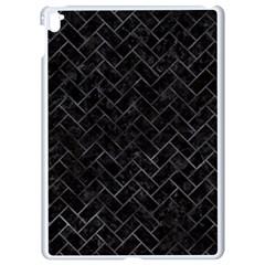 Brick2 Black Marble & Black Watercolor Apple Ipad Pro 9 7   White Seamless Case by trendistuff