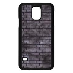 Brick1 Black Marble & Black Watercolor (r) Samsung Galaxy S5 Case (black) by trendistuff