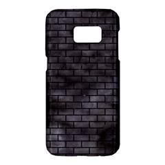 Brick1 Black Marble & Black Watercolor (r) Samsung Galaxy S7 Hardshell Case  by trendistuff
