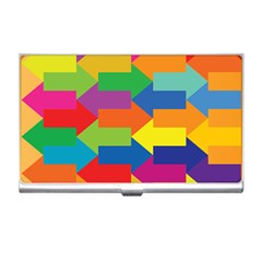 Arrow Rainbow Orange Blue Yellow Red Purple Green Business Card Holders by Mariart