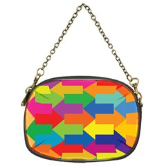 Arrow Rainbow Orange Blue Yellow Red Purple Green Chain Purses (one Side)  by Mariart