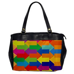 Arrow Rainbow Orange Blue Yellow Red Purple Green Office Handbags by Mariart