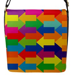 Arrow Rainbow Orange Blue Yellow Red Purple Green Flap Messenger Bag (s) by Mariart