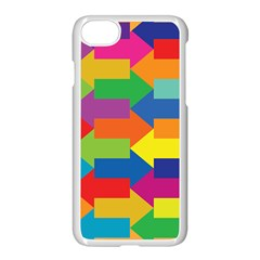 Arrow Rainbow Orange Blue Yellow Red Purple Green Apple Iphone 7 Seamless Case (white) by Mariart
