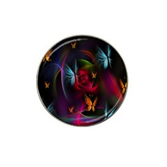 Beautiful Butterflies Rainbow Space Hat Clip Ball Marker by Mariart