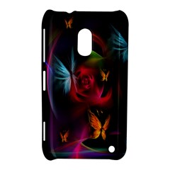 Beautiful Butterflies Rainbow Space Nokia Lumia 620 by Mariart