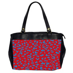 Blue Red Space Galaxy Office Handbags (2 Sides)  by Mariart