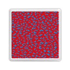 Blue Red Space Galaxy Memory Card Reader (square)  by Mariart