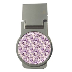 Vegetable Cabbage Purple Flower Money Clips (round)  by Mariart