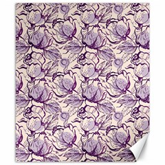 Vegetable Cabbage Purple Flower Canvas 8  X 10  by Mariart