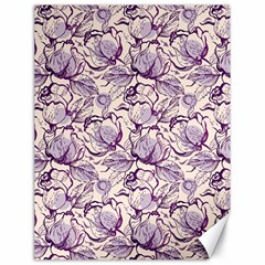 Vegetable Cabbage Purple Flower Canvas 18  X 24   by Mariart