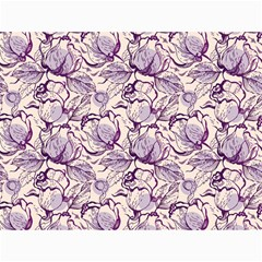 Vegetable Cabbage Purple Flower Canvas 36  X 48   by Mariart